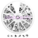 8cm SILVER NAIL ART LARGE GEMS CRYSTAL JEWELS DESIGN CRAFT FOR NAILS